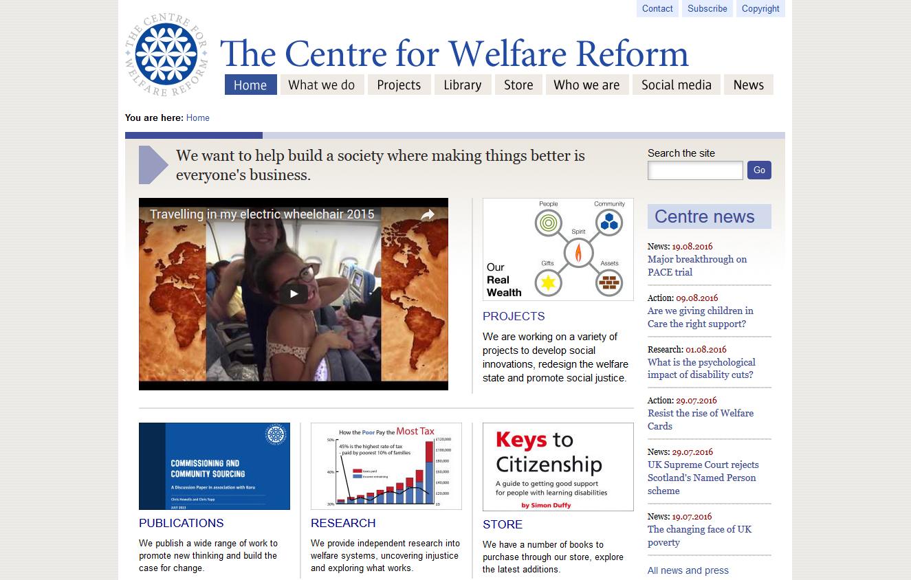 The-Centre-for-Welfare-Reform-Screenshot