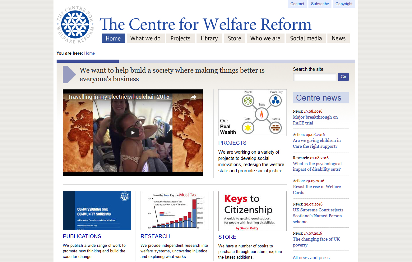 The-Centre-for-Welfare-Reform-Screenshot
